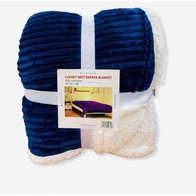 Κουβέρτα Προβατάκι Δύο Όψεων / Διπλή 220Χ240 - Μπλε - BL9