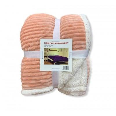 Κουβέρτα Προβατάκι Δύο Όψεων / Διπλή 220Χ240 Ροζ - BL10
