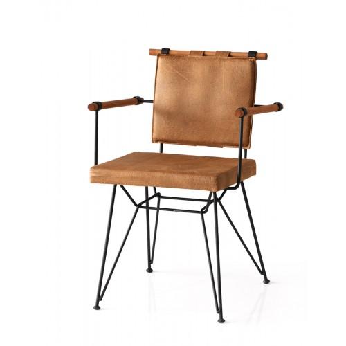 Μεταλλική Καρέκλα - Καφέ - mc04