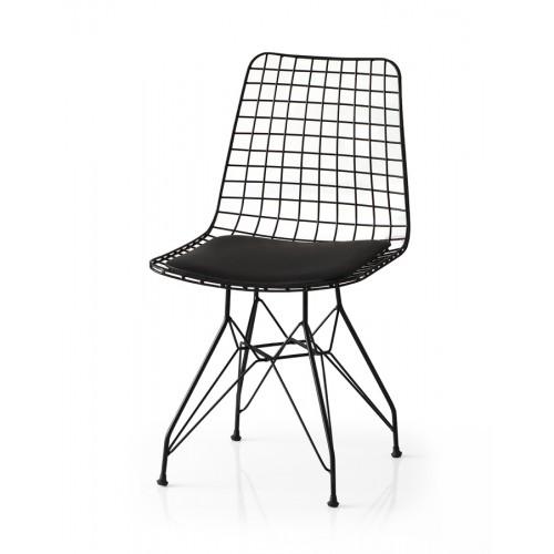 Μεταλλική Καρέκλα - Μαύρο - mc01