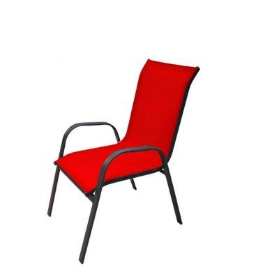 Πολυθρόνα Riviera ΚΟΚΚΙΝΟ  μεταλλική  textline κόκκινο εξωτερικού χώρου έπιπλα κήπου-βεράντας