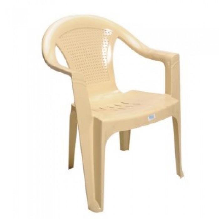 Καρέκλα πλαστική HERMES  Μπέζ έπιπλα κήπου-βεράντας  Έπιπλα Κήπου