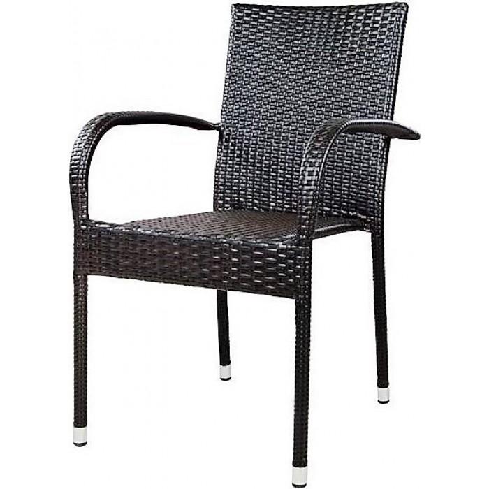 Πολυθρόνα  Rattan Καφέ Κωδ.5124.01Έπιπλα Κήπου