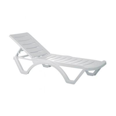 Ξαπλώστρα Aqua πλαστική Λευκή Κήπου-Βεράντας-Παραλίας-Πισίνας