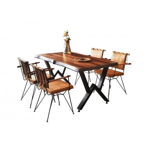 ΣΕΤ ΤΡΑΠΕΖΑΡΙΑΣ 5 ΤΕΜΑΧΙΩΝ Timber Κουζινα / Σαλόνι (tim-106)