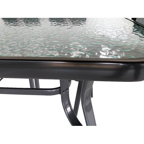 Μεταλλικό Τραπέζι Vienna 180x90 - ΓΚΡΙ ΣΚΟΥΡΟ - TMP180-03GR