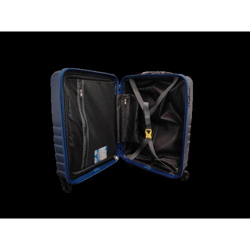 Σετ 3 Βαλίτσες Ταξιδιού ABS με Τηλεσκοπικό Χερούλι, Ροδάκια και Κλείδωμα Ασφαλείας σε Μπλε χρωμα - bl19192