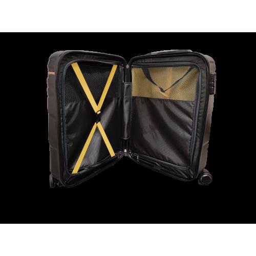 Σετ 3 Βαλίτσες Ταξιδιού ABS με Τηλεσκοπικό Χερούλι, Ροδάκια και Κλείδωμα Ασφαλείας σε Μαύρο χρωμα - bl19199