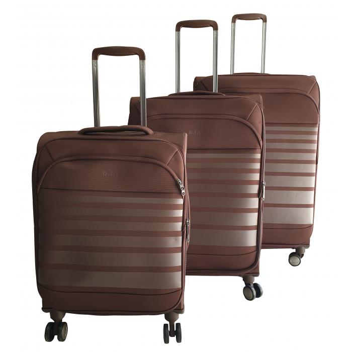 Σετ 3 Βαλίτσες Ταξιδιού σε Καφέ χρώμα - ph60 ΕΙΔΗ ΣΠΙΤΙΟΥ / ΚΗΠΟΥ
