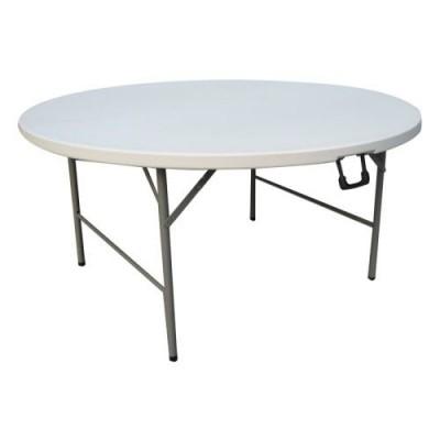 Στρογγυλό Τραπέζι Catering - Πτυσσόμενο - ΛΕΥΚΟ / U19354