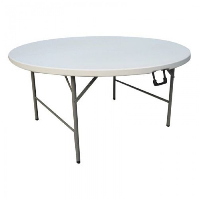 Στρογγυλό Τραπέζι Catering - Πτυσσόμενο - ΛΕΥΚΟ