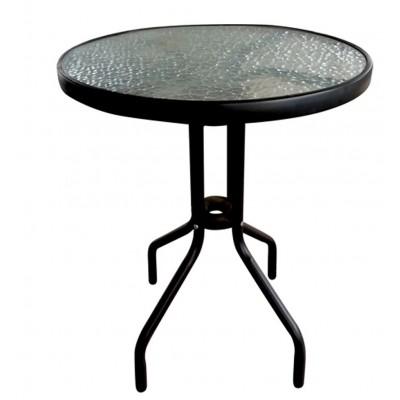 Τραπέζι Vienna Φ60 ΓΚΡΙ ΣΚΟΥΡΟ μεταλλικό /  έπιπλα κήπου-βεράντας.